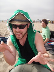 Seth was eaten by an alligator (butterflyseekshoney) Tags: friends beach fireperformance dockweilerbeach burningmanafterparty