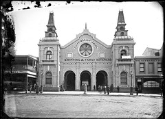 Borough Markets 75-77 Hunter Street, Newcastle, NSW, [28 April 1891] (Cultural Collections, University of Newcastle) Tags: newcastle hotel markets australia moore nsw marketplace plumber tod gibbs butchers fleming 1870 1891 hunterstreet boroughmarkets sparke familybutchers hunterst richardmoore lessel robertgibbs newmarkethotel chippindale ralphsnowball snowballcollection ralphsnowballcollection asgn0774b36 newcastleboroughmarkets lesselandtodhouseandshipplumbers chippindaleandflemmingshippingandfamilybutchers shippingbutchers wasparke asparke mayorsparke generalagentcompany newcastleregionnswhistorypictorialworks hotelsnewsouthwales photographynewsouthwalesnewcastle