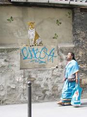 by Mosko & Associs (tofz4u) Tags: streetart paris butterfly graffiti stencil tag papillon panther pochoir streeart artderue panthre 75019 mosko moskoassocis indiansari idianwoman