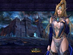 WoWpaper Human girl (WoWkipedia) Tags: world wallpaper wow blog king warcraft burning elf crusade lich blogworld