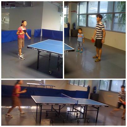 你拍攝的 乒乓球。