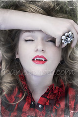 vampiric ecstacy (Daneli) Tags: red portrait woman color art halloween photoshop artistic vampire teeth romance lips dracula fantasy romantic fangs verobeach dracul sorryforthewatermarkimhavinganisuuewithstolenimages