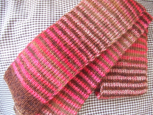 pink x brown scarf