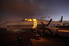 The Night Load (dbcnwa) Tags: usa night plane dark airplane evening flying airport ramp colorado metro dusk aircraft aviation flight coloradosprings cos fairchild turboprop keylime swearingen aeronautical metroliner lym sa227 metroiii coloradospringsairport keylimeair kcos sa227bc n779bc