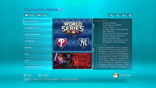MLB and Lucasfilm on PlayStation Network Video Delivery Service