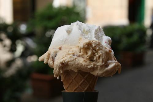 Marron glace' and vanilla gelato at Ciampini, Rome