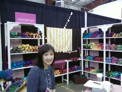 SweetGeorgia's Fibres West Booth
