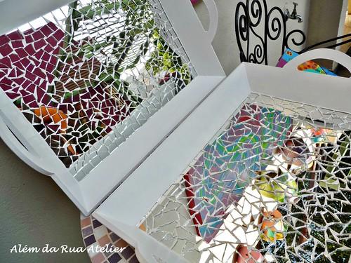 curso de mosaico - bandeja em mosaico