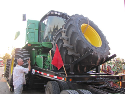 Loading up the combine
