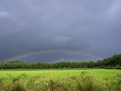rainbow 2 (karinselten) Tags: sky rain weather regenboog shower rainbow lucht regen bui weer