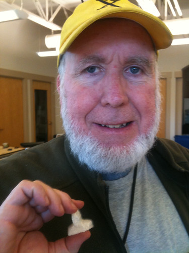 Kevin Kelly with 3D printed head