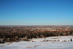 Boulder, CO (Isaac Tovar) Tags: city blue sky snow home landscape cu colorado perspective boulder