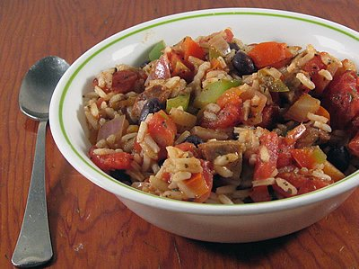 Andouille Rice with Beans