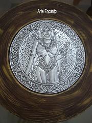 Enfeite де Parede (Arte Encanto) Tags: металл artesanato ювелирных Алюминий repujado repouss latonagem