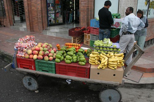 Ipiales fruit wagon...