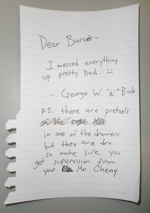 bush s letter to obama