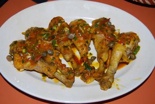 kip met saffraan