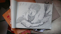 driver (Irina Troitskaya) Tags: pencil sketch lion sketchbook muji driver