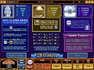 avalon free slots game