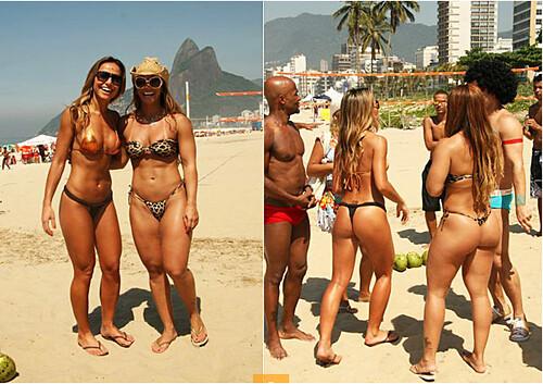 Sabrina Sato e Viviane Araújo na praia 01