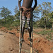 Tribal views: stilt boys