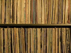 quite the record collection (Hot Lava) Tags: music records vintage antique bookshelf collection albums 45s