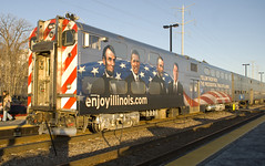 Enjoy Illinois (M. Lastovich) Tags: street car grant cab wrap trains national lincoln passenger elgin metra obama presidents railroads ilinois metx