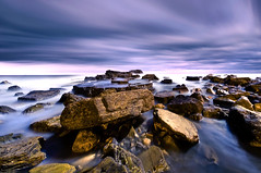 Rubble (dan barron photography - landscape work) Tags: longexposure nightphotography seascape clouds landscape bay ping southshields rubble marsden sigma1020mm nikond90