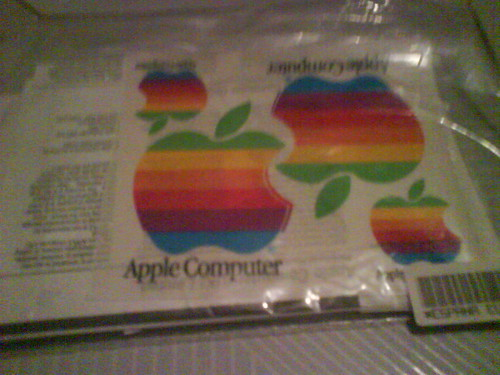 Instrucciones, manuales y pegatinas del Macintosh II