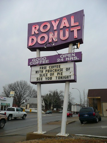 Danville (IL) United States  city images : Danville, IL Royal Donut sign by army.arch