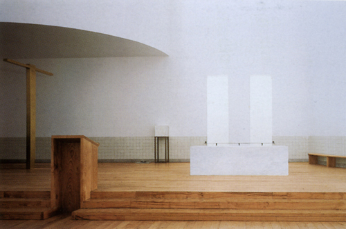 Church, Portugal, by Alvaro Siza - Altar
