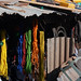 Almost abstract: coloured cords and jerry cans