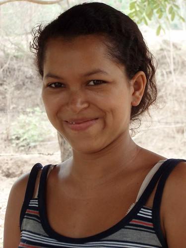 Retrato de una mujer sonriente - Portrait of a smiling woman; El Tule, Estelí, Nicaragua