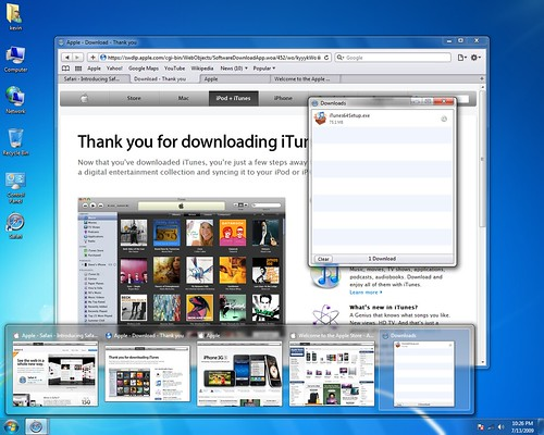 Safari on Windows 7 - Tabs