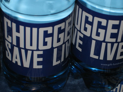 Chuggers Save Lives bottles