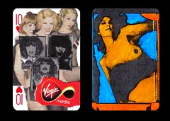 Duchampian Snap #9 (Luis Drayton) Tags: blue orange woman art collage drag glamour breasts transgender popart tranny montage transvestite photomontage glam collaboration playingcard glamourpuss doubleyou glamourpussy monacompleine duchampiansnap