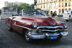 A Well-Cared-For Cuban Taxi