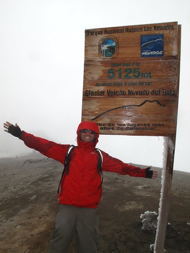 I blame the cheesy pose on altitude-related light-headedness