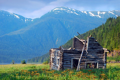 Log cabin at Alice Arm (xtremepeaks) Tags: canada mountains abandoned silver coast town log cabin bc arm alice decay ghost mining getty bigmomma xtremepeaks superaplus aplusphoto thechallengefactory
