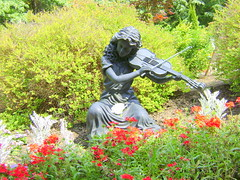 NEVER ENDING STORY (MANIFEST! /Rita Timmins) Tags: musician sculpture music canada flower art garden artist bc performance violin powellriver