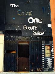 The Good One Beauty Salon (avilon_music) Tags: california ca street signs abandoned sign la losangeles olympus vacant weathered salon southerncalifornia streetscenes rundown inglewood beautysalon e510 fadingamerica olympuse510 markpeacockphotography avilonmusic