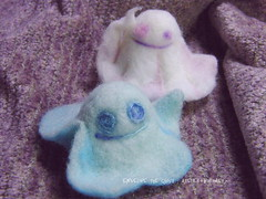 Envelope the Ghost /   (borometz) Tags: envelope  spirit ghost     wool     needlefelting needlefelted  plush toy art monster  craft    handcraft  felt legend myth  mythology  fantasy atelierborometz