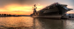 Intrepid Sea Air Space Museum (Eli Mergel) Tags: new york nyc sunset skyline museum river boat pentax aircraft pda sdm if intrepid smc legacy f28 carrier k7 5xp edal 1650mm smcpda1650mmf28edalifsdm