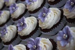 Lilac Hydrangea Wedding Cupcakes (ConsumedbyCake) Tags: wedding white tower college cakes cookies cake fruit silver hearts sussex cupcakes worthing brighton blossoms lilac cupcake cutting hydrangea venue hydrangeas placecard consumedbycake