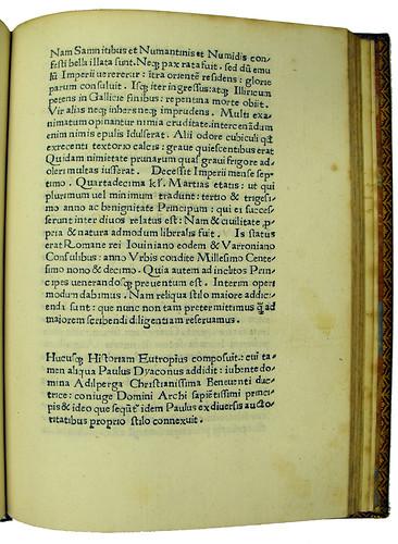End of Book 10 from Eutropius: Breviarium historiae Romanae