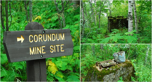 corundum site collage