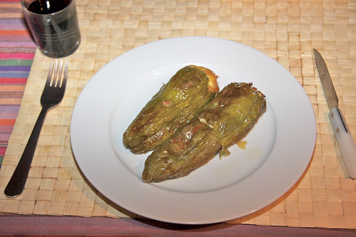 Stuffed Peppers Served