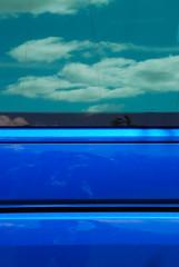 Reflections on a Beautiful World (antonychammond) Tags: blue abstract beautiful clouds reflections rhizome fiatlux top20blue estremità colourartaward trashbit winnr creattività