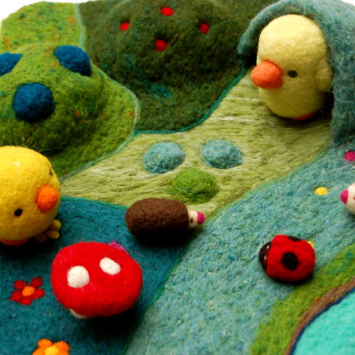 Needle Felted Landscape playscape