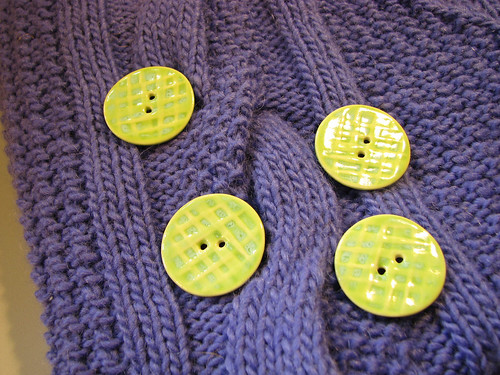 Buttons for Nubby Cardi